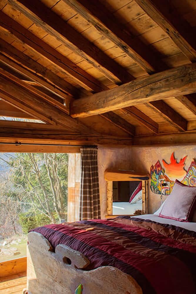 ResAlbert chalet camera da letto con vista in Valchiavenna